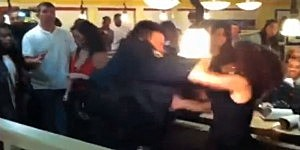 Cop Punches Women At IHOP