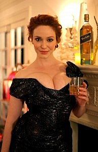 Christina Hendricks Celebrates With Johnnie Walker At Her Annual Holiday Party In Los Angeles