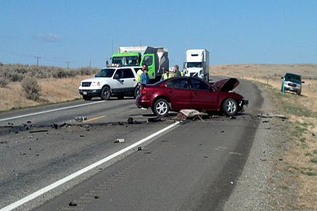 Photo of Accident Blocking Traffic on Highway 93 In Lincoln County