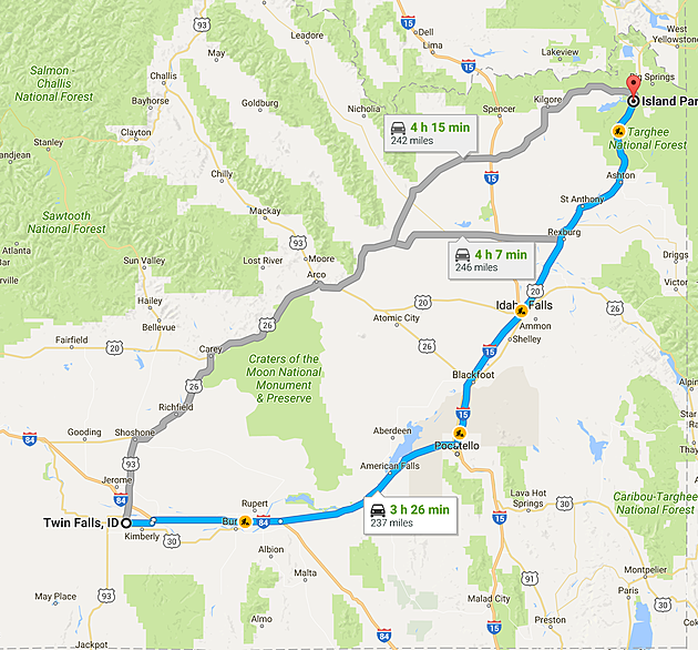 How Far To Island Park Idaho