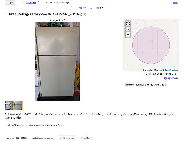 if you can fix this fridge it s yours for free