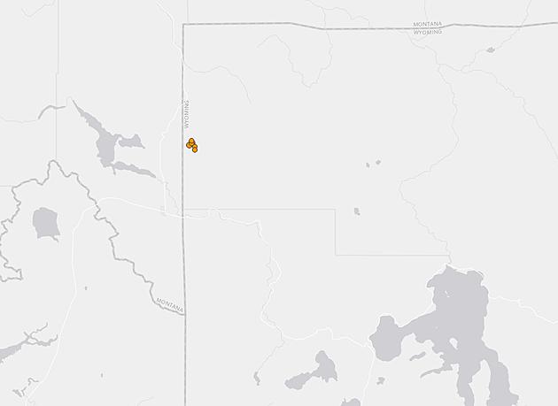 Swarm of 5 Yellowstone Quakes, USGS