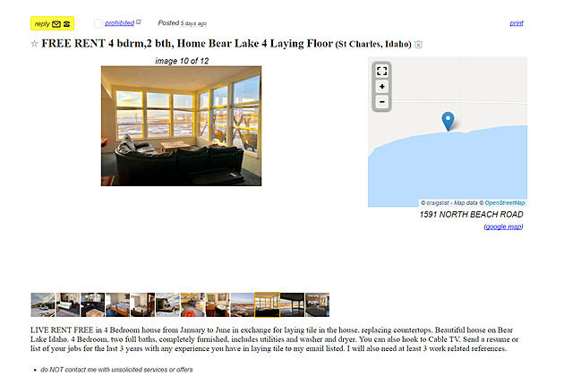 Once again, the original Craigslist post can be found at the following link.